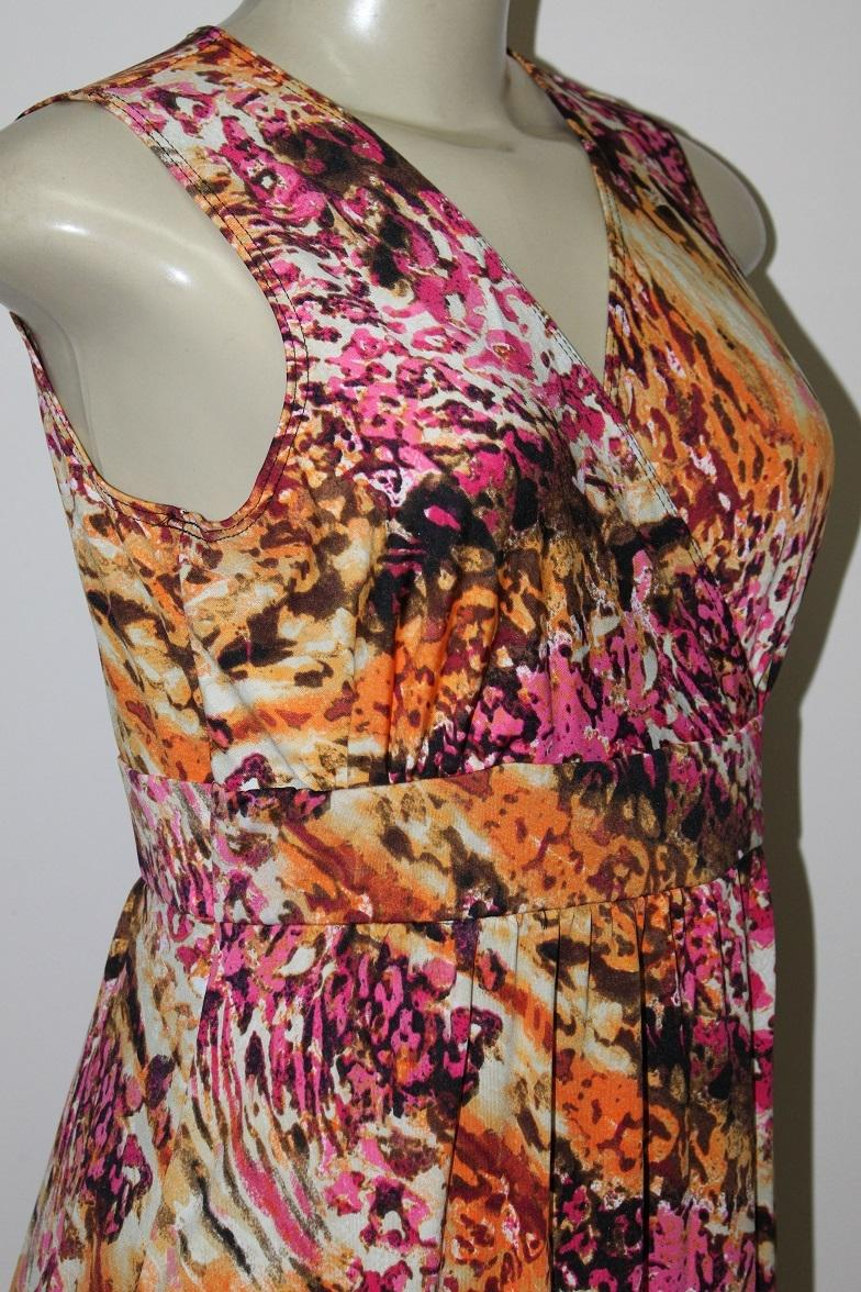 New Kate Mallory Pink New Stretch Knit Sleeveless Crossover