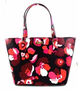 Kate Spade Dally Laurel Way Printed Pink Tote in Black