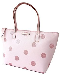 Kate Spade Black Small Tote in pink