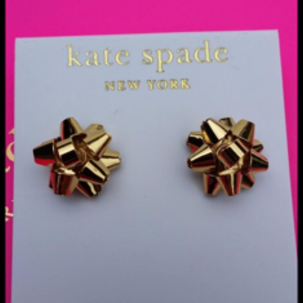 Kate Spade Bourgeois Christmas Bow Earrings