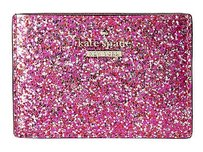 Kate Spade Kate Spade Glitter Bug Red Hot Pink Sparkly Darla Card Wallet Pwru4629