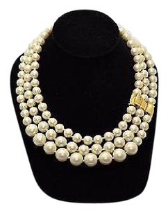 Kate Spade B0 Kate Spade Moon River Pearl Triple Strand Necklace With Bag