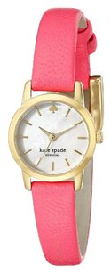 Kate Spade 1YRU0830 kate spade new york Women's Tiny Metro Gold-Tone Watch with Pink Leather Band