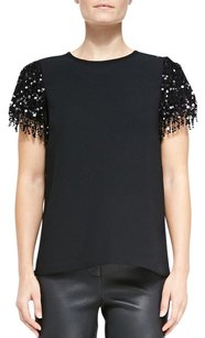 Kate Spade Las Vegas Sequin Top Black