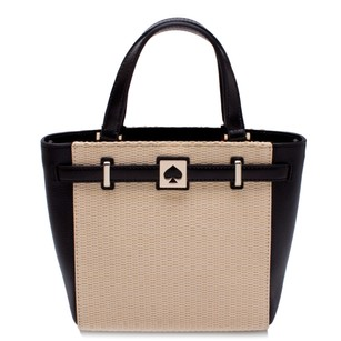 Kate Spade Leather Tote in Pale Natural and Black