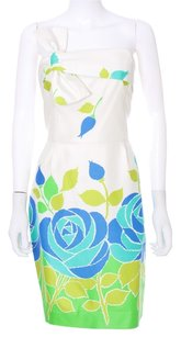 Kate Spade Navy White Floral Silk Sleeveless Dress