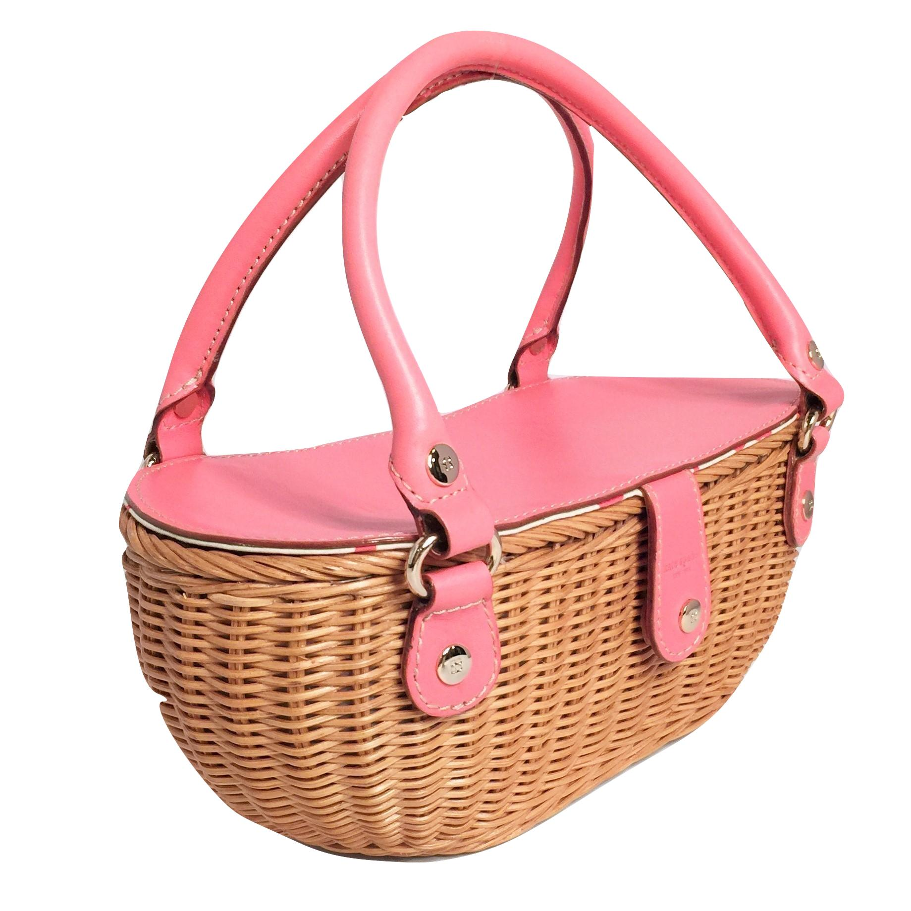 Kate Spade New York New Spring 2005 Collection Kate Spade Green Wicker Basket Bag kMMwrUR