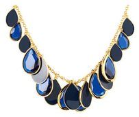 Kate Spade NWT Kate Spade Petal Pusher Necklace Fabulous Faceted Blue Cascading Teardrops!
