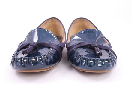 Kate Spade Patent Leather NAVY Flats