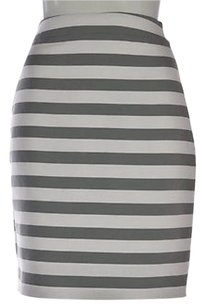 Kate Spade Womens Striped Pencil 0 Above Knee Skirt White