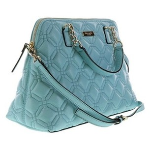 Kate Spade Quilted Leather Soft Leather Satchel in Blue