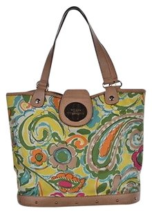 Kate Spade Womens Yellow Satchel in Multi-Color