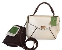 Kate Spade Satchel in white and brown