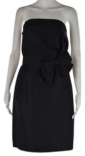Kate Spade Womens Knee Length Strapless Silk Sheath Dress