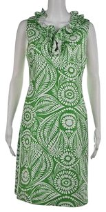 Kate Spade Womens Green Casual Knee Length Floral Sheath Dress