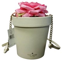 Kate Spade Spring Forward Flower Pot Pxru5664 Leather beige Clutch