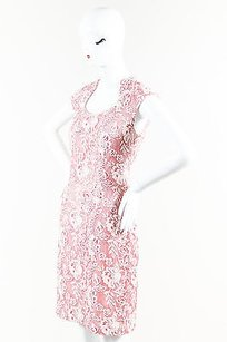 Kay Unger White Floral Dress