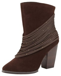 Kelsi Dagger Gold Hardware brown Boots
