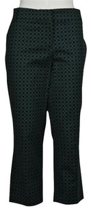 Kenar Womens Green Navy Capri Casual Cropped Trousers Pants