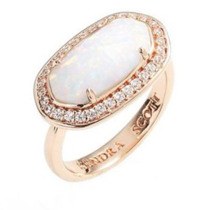 Kendra Scott Emmaline Ring In White Kyocera Opal