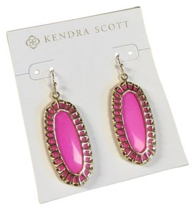 Kendra Scott Stunning Kendra Scott Dayla Magenta Gold Caged Earrings, Reversible