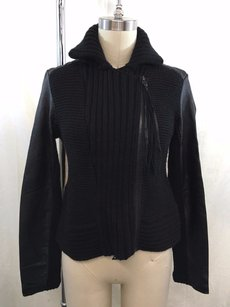 Kenneth Cole Collection Knit Sleeve Zip Cardigan Sweater