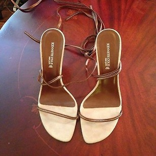 Kenneth Cole Leather Brown Sandals