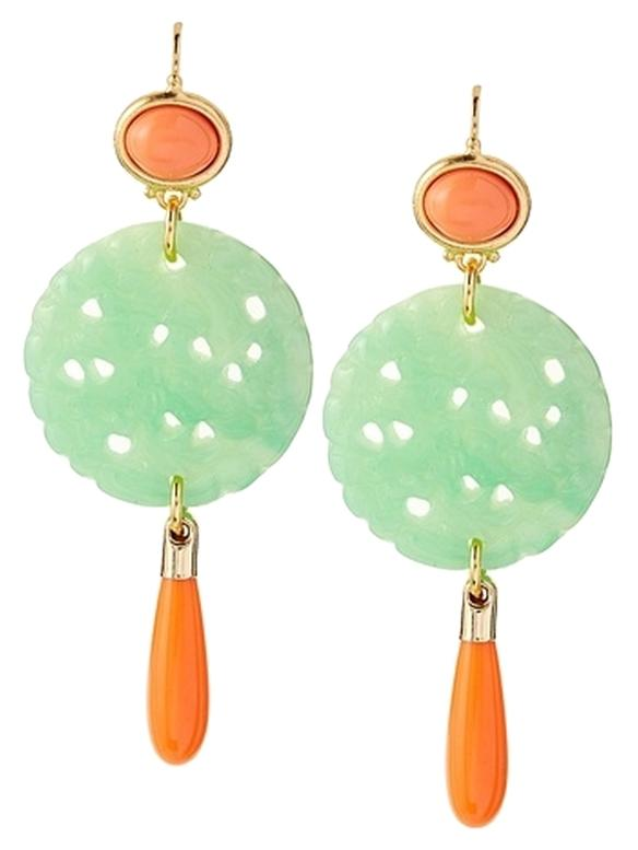 Kenneth Jay Lane Carved Coral Earring Coral UOptLNv