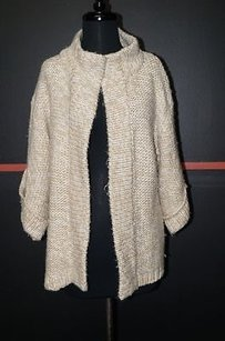 Kensie Pretty White Bell Sleeves Open Front Cardigan 21796 Sweater