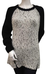 Kensie Round Neck String Combo Chunky Cable Knit Long Sleeve Sweater
