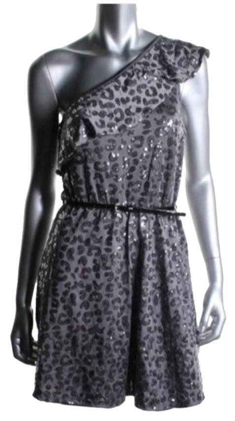 Kensie Gray And Silver Above Knee Cocktail Dress Size 4 S Tradesy