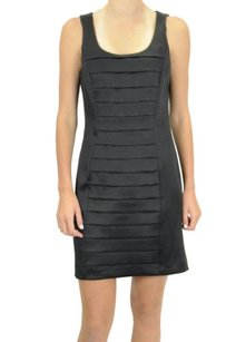 Kensie short dress Black Pleated Front Shift on Tradesy