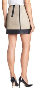 Kensie Suede Black Leather Mini Skirt Nude