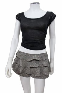Kimchi Blue Print Ruffle Tap From Urban Outfitters Shorts Gray