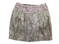 Kimchi Blue Urban Outfitters Metallic Jacquard Print Skirt Gold, Pink
