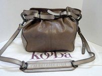 Kooba Gold Leather Cross Body Bag