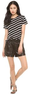 Koral Black Jogging Leather Ems Shorts