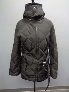 Kristen Blake Polyester Lined Zip Front Belted Hooded Down Sma3443 Coat