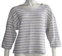 L'AGENCE Lagence Off White And Blue Sweater