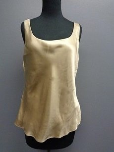 Lafayette 148 New York Sleeveless Top Gold