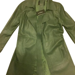 Lafayette 148 New York green Leather Jacket