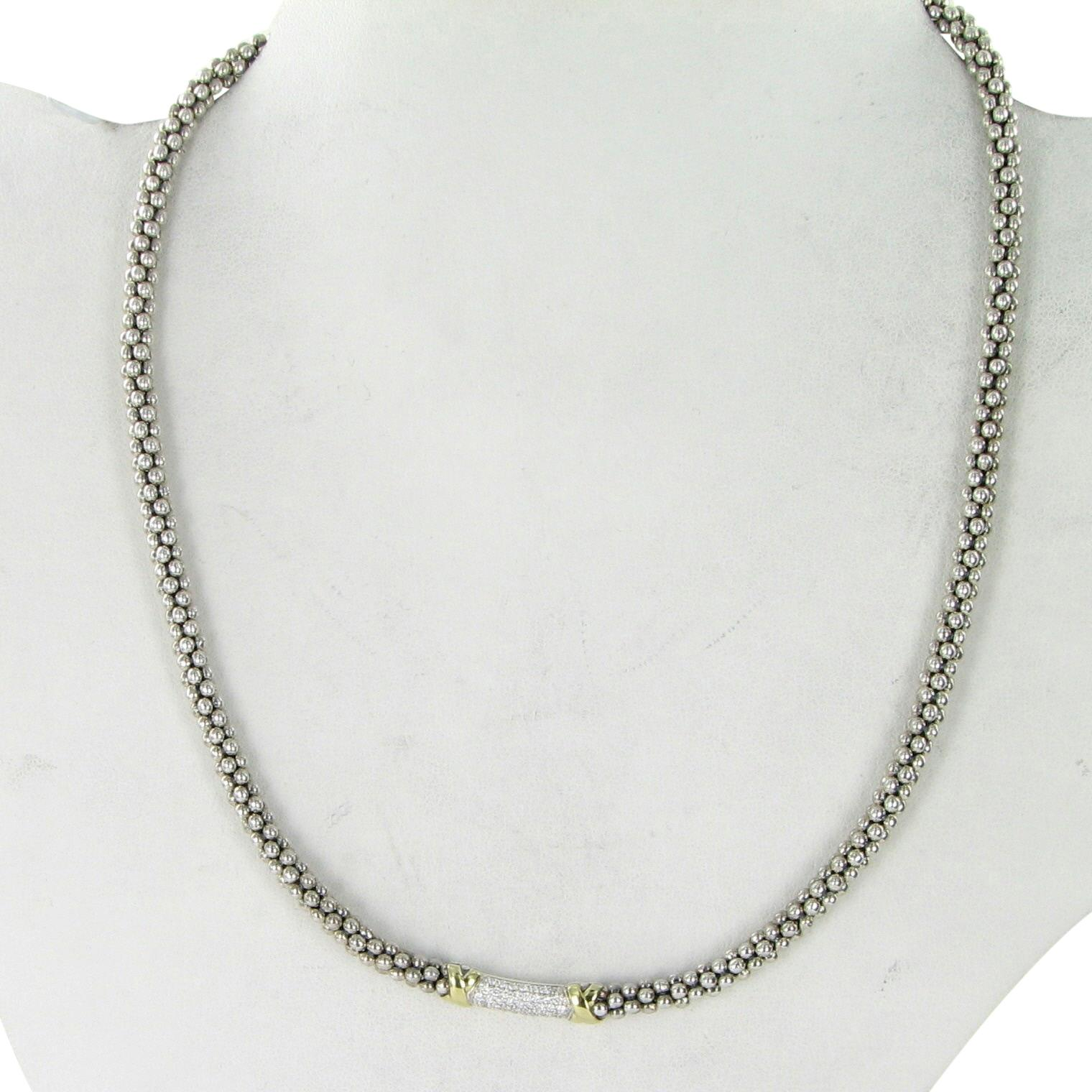 Lagos 4mm Sterling Silver Rope Necklace, 18L