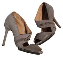 L.A.M.B. Suede Night Out Party Beige Pumps