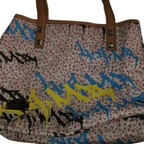 L.A.M.B. Tote in Black/yellow/white/pink/brown/blue