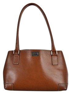 Lambertson Truex Womens Leather Handbag Satchel in Brown