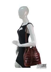 LANA MARKS Chic Alligator Shoulder Bag