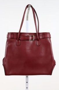 Lancaster Womens Solid Satchel in Red