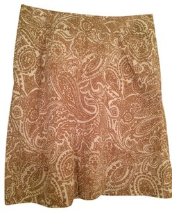 Lands End Skirt tan and white