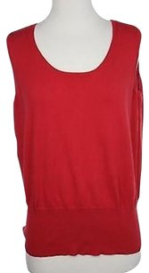 Lane Bryant Womens Solid Top Red
