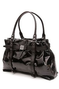 Lanvin Patent Leather Kansas Tote in Black